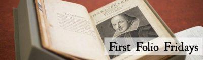 UCI:  First Folio Friday