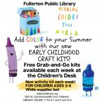 Fullerton Library:  Craft Kits to Go