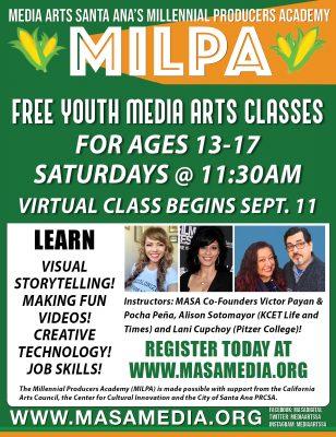Free Media Classes for Santa Ana Students