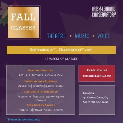 ALC Fall Performing Arts Classes