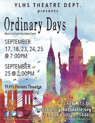 Yorba Linda High School presents  Ordinary Days