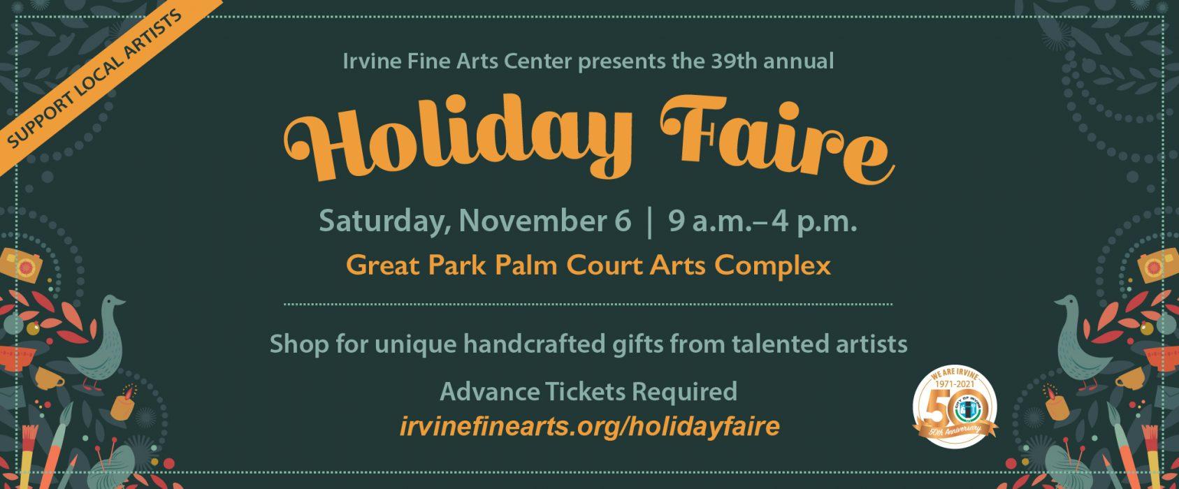2021.10.19-11.7 Irvine Holiday Faire
