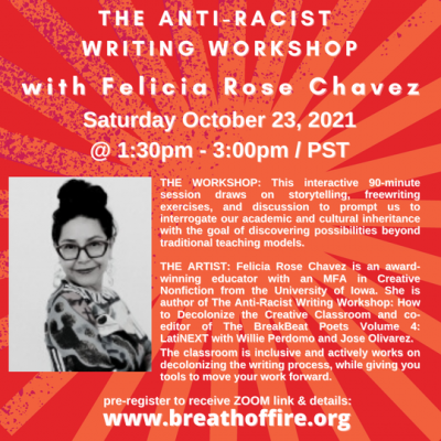 Writing Workshop with Felicia Rose Chavez