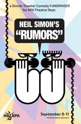 """Dinner Theater Comedy Fundraiser - Neil Simon's """"RUMORS"""""""