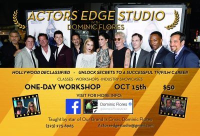 Hollywood Declassified workshop with Dominic Flores