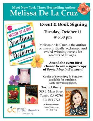 Book Signing: Author Melissa De La Cruz