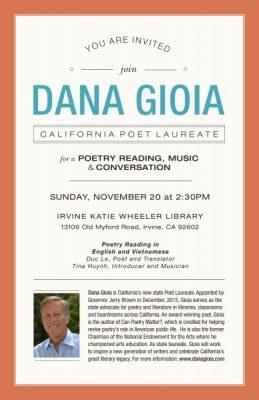 Dana Giola - California Poet Laureate