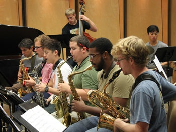 Fullerton Jazz Orchestra, with guest saxophonist and bass clarinetist Bennie Maupin