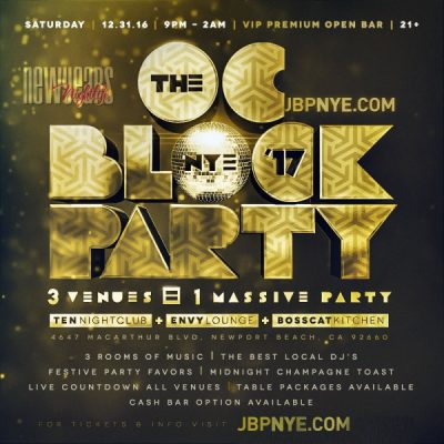 Orange County NYE New Years Block Party