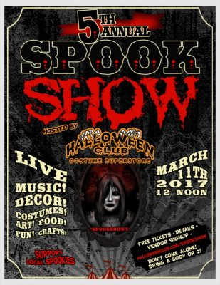 5th Annual Spook Show: Halloween Festival by Halloween Club