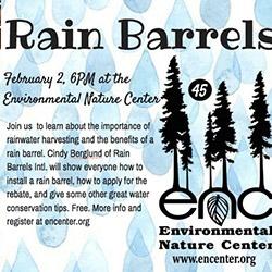 Rain Barrels at the ENC