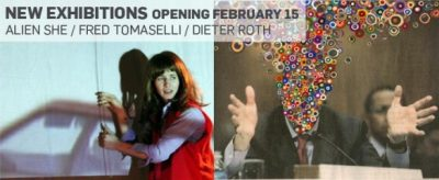 Opening Day Celebration: Alien She, Fred Tomaselli, and Dieter Roth