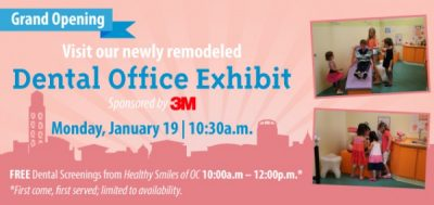 Grand Opening of Pretend City's Dental Office Exhibit