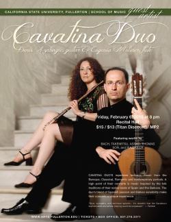 Cavatina Duo Denis Azabagic, guitar & Eugenia Moliner, flute