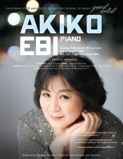 Akiko Ebi, piano
