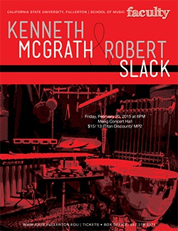 Kenneth McGrath and Robert Slack, percussion
