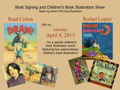 Children's Book Signing and Illustration Show featuring Raul Colon and Rafael Lopez