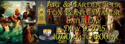 Art and Garden Tour of Fox Pointe Manor