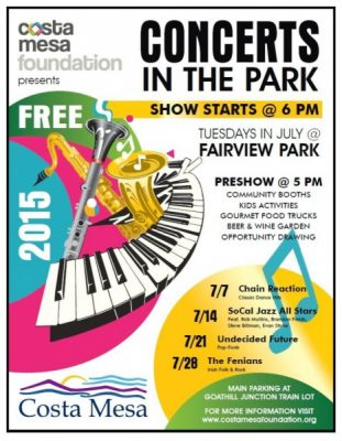 Costa Mesa Concerts in the Park