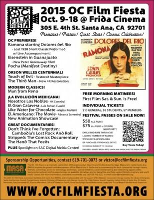 6th OC Film Fiesta, Oct. 9-18, 2015