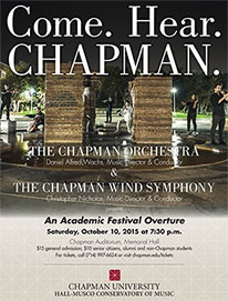 The Chapman Orchestra & Wind Symphony in Concert