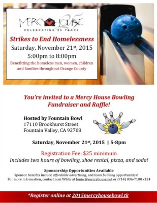 Mercy House Bowling Fundraiser