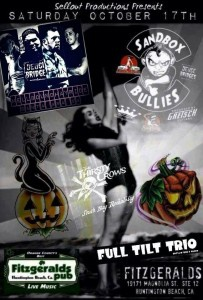 Hellbound Hayride with Sandbox Bullies, Full Tilt Trio and The Thirsty Crows