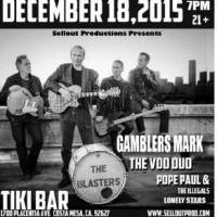 The Blasters w/ Gamblers Mark, The Vooduo, Lonely Stars, and Pope Paul & The Illegals