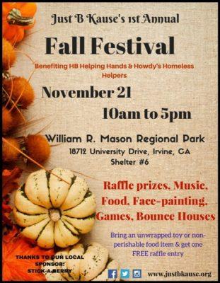 Just B Kause 1st Annual Fall Festival