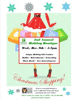 2nd Annual Holiday Boutique at Holiday Inn OC Airport