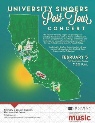 University Singers Post-Tour Concert
