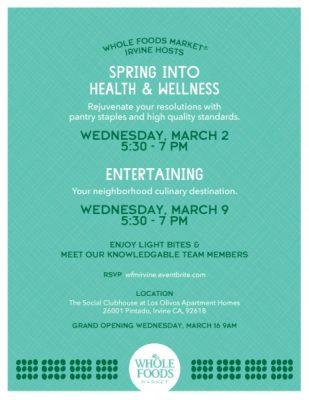 Whole Foods Market Irvine Pre-Opening Community Events: Entertaining