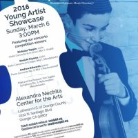 Young Artist Showcase Concert