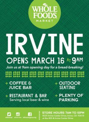 Whole Foods Market Irvine Grand Opening