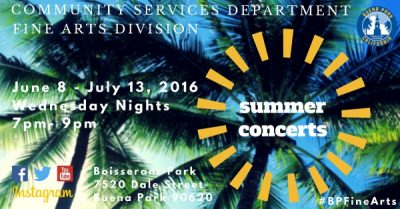 Summer Concerts in the Park featuring the Wiseguys...