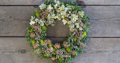 Dried Wreath Workshop with Christopher Nichols & Lisa Bauchiero